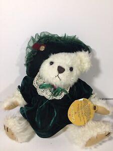 "Brass Button Jointed Bianca Bear of Friendship 10"" Plush Stuffed Animal (31)"