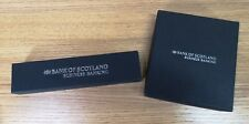 Bank Of Scotland Ballpoint Pen & Leather wallet picture frame (black)- Boxed D3B