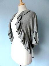 Motherhood Maternity Cotton Gray Stretchy Ruffle Shrug Sweater Top Women OS S