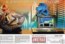 Publicité advertising 1987 (2 pages) Ordinateur Amstrad CPC 464