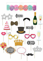 20pc Wedding Photo Prop Set - Booth Selfie Props Set Party Table Decoration