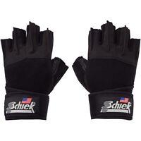 Schiek Sports Platinum 3/4 Finger Wrist Wrap Lifting Gloves - Black/Gray