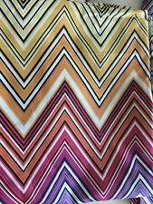 NEW MISSONI Multi Color Duvet Cover King Sham Set