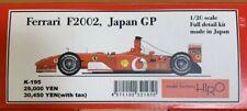MFH Model Factory Hiro 1/20 Ferrari F2002 Japan GP Full Detail Kit K-195 #43