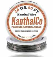 KanthalCo Kanthal Wire 26 Gauge AWG A1 50ft Roll 0.40mm 3.21 ohms/ft. Resistance