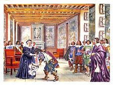 "BRISSAC CHATEAU "" LOUIS XIII & MARIE DE MEDICIS "" ILLUSTRATION 1956"