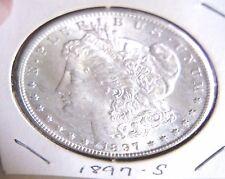 1897 S Morgan Silver Dollar 1$ US BU Uncirculated Guaranteed Private Owner