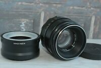 HELIOS-44-2 SLR M42 with adapter Sony E NEX (for E-mount) / serviced
