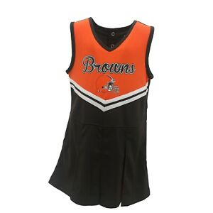 Cleveland Browns NFL Toddler & Youth Girls Cheerleader Style Dress with Bottoms