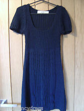 Zara Knit Navy Blue Dress Size S Small 100% Arcylic (Ref P) Ex Con