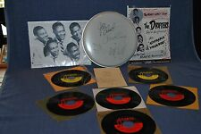 The Drifters autographed items PLUS 45 RPM records by Drifters, Clyde McPhatter
