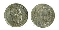 s644_100) Vittorio Emanuele II Re d'Italia (1861-1878) 5 lire 1869
