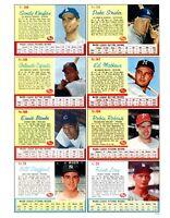 1962 Post Cereal Baseball REPRINT Uncut Sheet # 6212