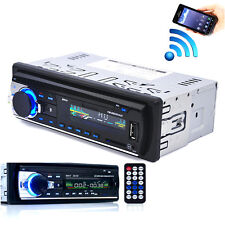 Auto Bluetooth Stereo Audio 1DIN In-Dash FM Aux Input Receiver SD USB MP3 Radio