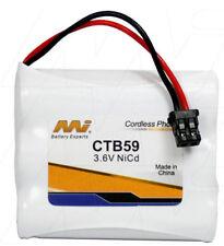 MI CTB59 3.6V NiCd Cordless Phone Battery KX-A36,P-P501/PA/PT,BP-T18,P-P510/A