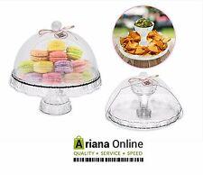 2 en 1 cubierta de domo Tapa Taza de pedestal de soporte de Pastel Torta Display Stand Dip Bandeja