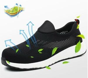 Lightweight Men Women Safety Shoes Summer Breathable Steel Toe Cap Work Boots