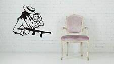 Wall Sticker Decal Vinyl Girl Sex Detective Gangster Rock Motorcycle Club Design