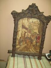 VINTAGE ARTINI ETCHED ENGRAVING ART / CARVELO FRAME WALL ART PAINTING DECOR