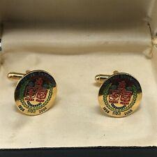 More details for vintage 150 year celebration ellesmere lodge masonic enamel gents cufflinks set