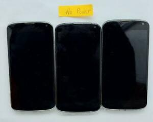 LG Nexus 4 E960 Smartphone as is parts lot of 3 #1