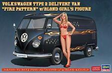 Hasegawa 1/24 Volkswagen Type 2 Delivery Van Fire Pattern w / Blonde Girls Figur