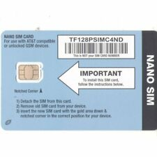Straight Talk At&T Compatible Nano Size Sim Card for At&T Phones and Unlocked.