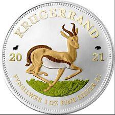 1 Rand Südafrika 2021 - 1 OZ Springbok Bull&Bear Blueline 2021
