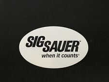 Original SIG Sauer pegatinas when it cuentas sticker sportschiessen blanco