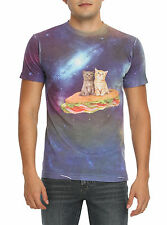 "Space Cats On Sandwich ""SPACE CATS"" Kittens ""Pusheen"" T-Shirt NEW"