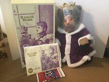 Raikes Bears - The Royal Court - King William w/ COA & Original Box - Signed