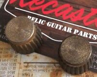 🎸 Pair (2x) Relic Volume/Tone Knobs for Marshall Amplifier Amp Aged Vintaged