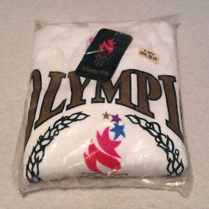 Vintage '96 Atlanta Olympics Men's XL White Hanes Crewneck Sweatshirt **New**