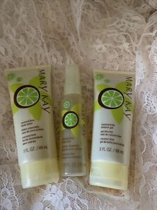 Mary Kay Coconut Lime Gift Set Lotion Shower Gel Body Mist, RARE Limited Edition