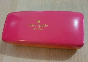 Kate Spade New York Pink Orange Hard Shell Glasses Case Spectacles Reading