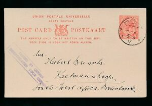 SOUTH WEST AFRICA 1917 KG5 SA STATIONERY BOXED CENSOR MARIENTAL to KEETMANSHOOP