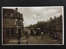 More details for rp vintage postcard - lincs. #c6 - cleethorpes rd,  grimsby - 1925 trams, stores