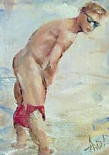 Original art, nude,gay art interest,sexy body man male torso,erotic boy nature1