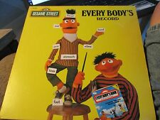 SESAME STREET-EVERY BODY'S RECORD-COVER ONLY/AT HOME WITH ERNIE & BERT-LP ONLY