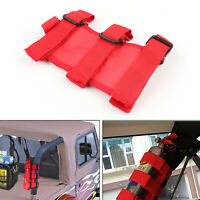Red Car AT Fixed Holder Fire Extinguisher For  Wrangler T/YJ JK CJ Auto C AU