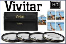 For Nikon D5100 Vivitar Series-1 4Pcs Close Up +1/+2/+4/+10 Macro Lens Kit