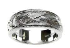NEW Judith Ripka Sterling Textured Braided Men's Ring SIZE 13