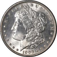 1902-P Morgan Silver Dollar Rattler Holder PCGS MS65 Superb Eye Appeal