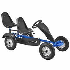 2-Sitz Go-Kart Rennkart Tretauto Gocart Kinderfahrzeug Kinder Blau - B-Ware
