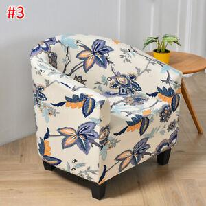 Tub Chair Covers Elastic Armchair Sofa Cover Club Chair Seat Slipcovers Floral