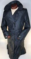Calvin Klein Women's Black Trench Coat Rain Jacket, wind breaker, Large