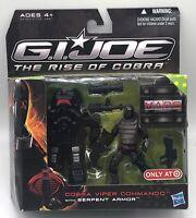 Hasbro GI Joe The Rise of Cobra Cobra Viper Commando With Serpent Armor New MISB