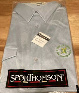 Vintage 1988 US Open The Country Club Squirrel Polo Mens Golf Shirt  Blue NEW L