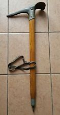 Vintage Wooden Ice Axe with Spike, Leash, Ring and Stop