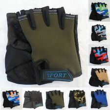 1 Pair Kids Children Bike Bicycle Cycling Half Finger Fingerless Sports Gloves .